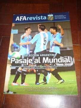 AFA REVISTA nro 32 OFICIAL . MESSI ARGENTINA CLASIFICA AL MUNDIAL 2014 . OCTUBRE 2013