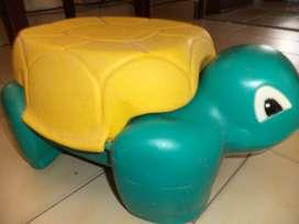 Vintage Raro Difícil de encontrar asiento De Almacenamiento Taburete de paso de tortuga Rubbermaid