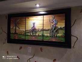 Vendo o Cambió hermoso Cuadro Decorativo original del Quijote de La Mancha