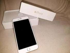 PRECIO NEGOCIABLE Vendo Iphone 6 dorado con caja cargador y audifonos esta en perfecto estado y es de 32 gigas
