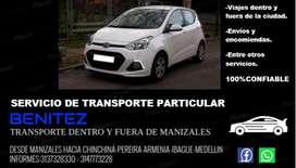 Servicio de transporte particular desde y hacia Manizales