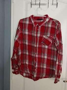 Camisa Femenina leñadora G