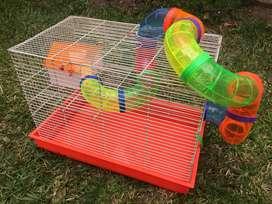 Jaula grande para hamster - 2 pisos