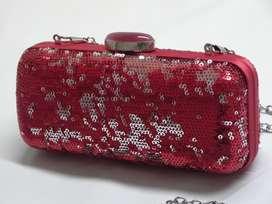 carterita o clutch de fiesta rojo