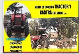 vendo TRACTOR Y RASTRA