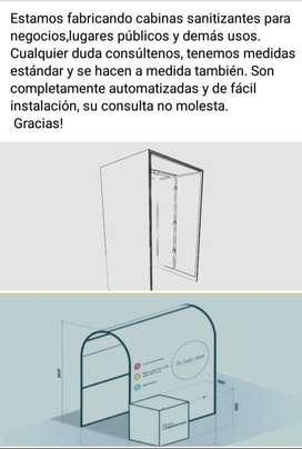 Cabinas sanitizantes Industrias Cervantes