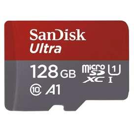 Memorias micro Sd 128gb clase 10 Sandisk