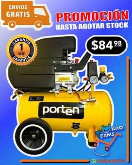 Compresor de aire PORTEN de 1hp - 2hp y 5hp * De uso doméstico - industrial y seminin