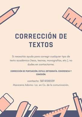 Servicio de corrección de textos
