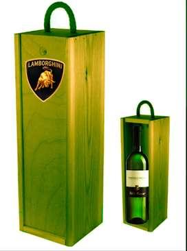 Caja De Vino Grabada Con Logo Empresarial O Personalizada