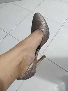 Zapatos con Brillo Talla 40