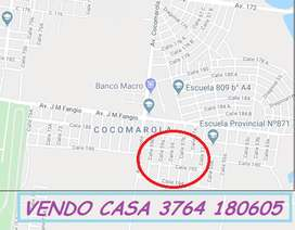 VENDO CASA EN POSADAS  - ZONA  AUTODROMO - BARRIO COCOMAROLA ESTE