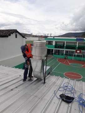 Limpieza de ductos campanas y extractores Ibarra Imbabura Ecuador