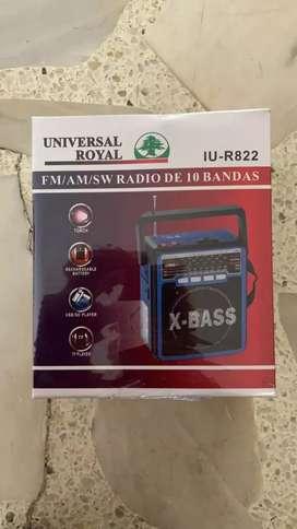 Radio Recargable USB AM FM