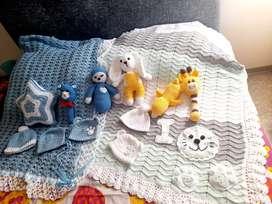 Manticas  de apego para bebé Crochet