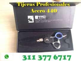 Tijeras Profesionales Japonesas Peluquería barbería Acero 440