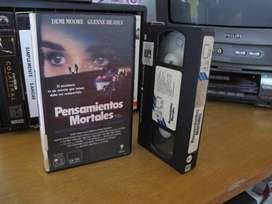 Pensamientos mortales (Mortal Thoughts) Demi Moore, Bruce Willis ,  1991 VHS ARG