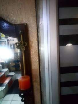 Vendo o Cambio candelabro con vela forjado en hierro