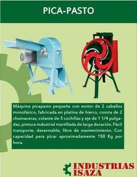 Maquina picpasto en platina, volante con 3 platinas, motor de 2Hp monofásico