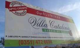 Villa Catalina b cerrado escriturado procrear lote terreno