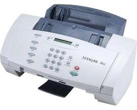 Impresora, fax Lexmark X63