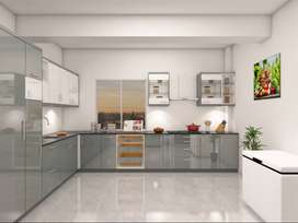 Render Diseño interior Cocina Mueblario VRay, Autocad, Sketchup.