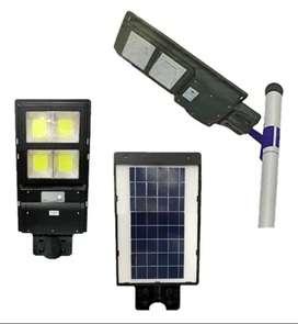 LAMPARA PARA EXTERIOR SOLAR LED 60W CON SENSOR DE MOVIMIENTO Y CONTROL