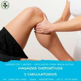 Curso de Masajes Deportivos y Circulatorios