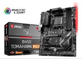 Msi - B450 Tomahawk Max (socket Am4) Usb-c Gen2 Amd Board