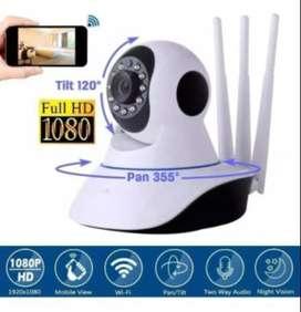 Cámara Seguridad Vigilancia Wifi Robótica 3 Antenas