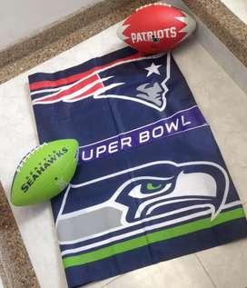 Banderas balones nfl futbol americano