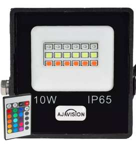 Reflector Color Led Rgb Exterior 10w 220v con Control Remoto