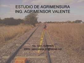 ESTUDIO DE AGRIMENSURA - INGENIERO AGRIMENSOR