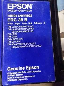 8 unidades Cinta Epson Erc-38b // Negra - Tmu200/tmu300/tmu325
