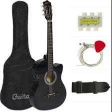Guitarra Acustica con Estuche Y Bitela