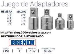 juego de adaptadores para bocallaves  tubos de 4 piezas bremen
