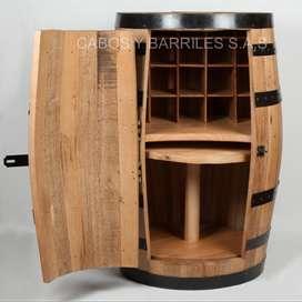 Bar mixto hecho de barril