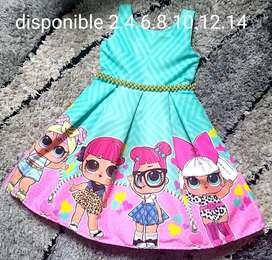 Vestidos Niña Cumpleaños Miles Dibujos