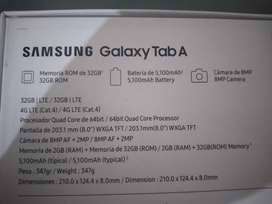 Tablet Samsung galaxy A + estuche