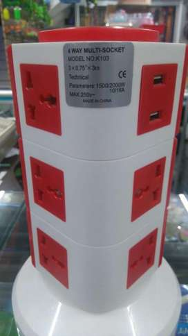 Torre multitoma de 3 pisos y 12 conexiones NUEVA