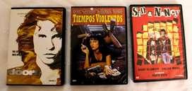 Películas DVD originales: The Doors, Pulp Fiction y Sid y Nancy