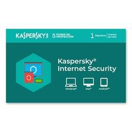 LICENCIA KASP INTERNET SECURITY /1 USER /1 YEAR