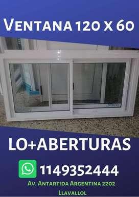 Ventanas de Aluminio Blanco. Linea Herrero - Modena  Vidrio Repartido CLASICO - FLORENCIA - AMERICANO Vidrio 3 + 3