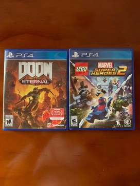 Vendo Doom Eternal y lego marvel heroes 2