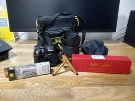Cámara Nikon D5100+lente 18-105mm Ed+disparador+estuche+