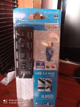 Usb hub 3.0 Con Apagador De cada Puerto