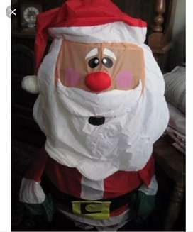 Muñeco Papá Noel, Armable, iluminado