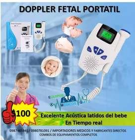 Doppler Fetal Portátil Pantalla Led Excelente acustica