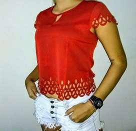 Hermosas blusas caladas de dama