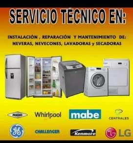 Servicio técnico de lavadoras y neveras inmediato
